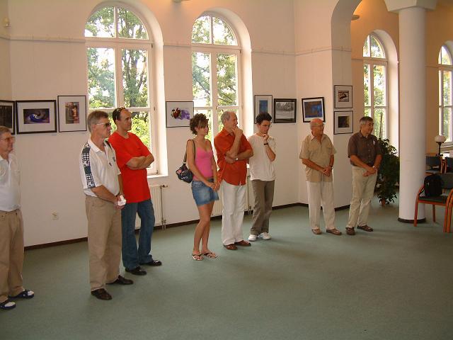 A kiállítás közönsége